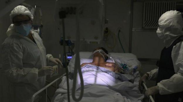 Paciente em UTI em Guarulhos