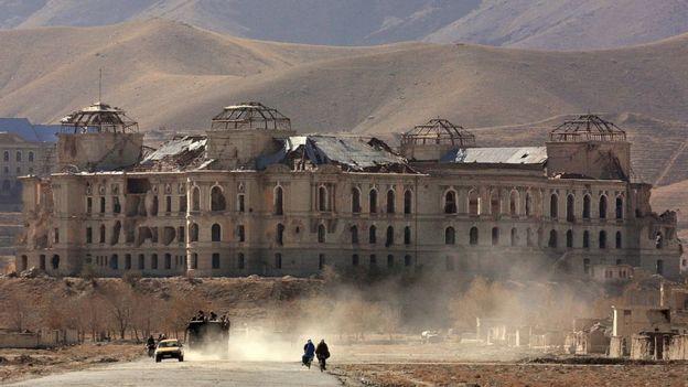 Palacio presidencial de Kabul.