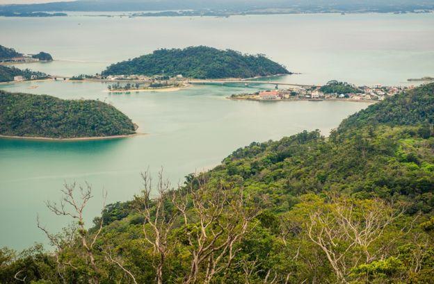 Vista panorâmica das ilhas de Okinawa