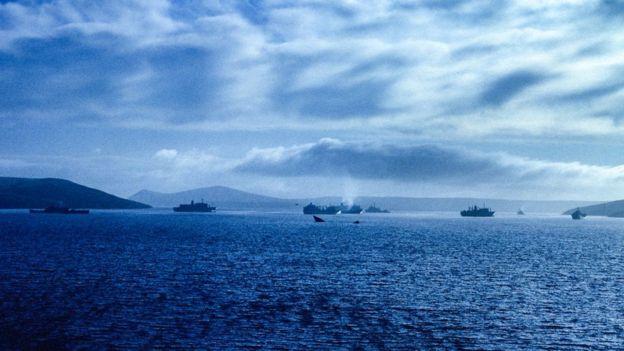 Buques atacados durante la Guerra de las Malvinas.