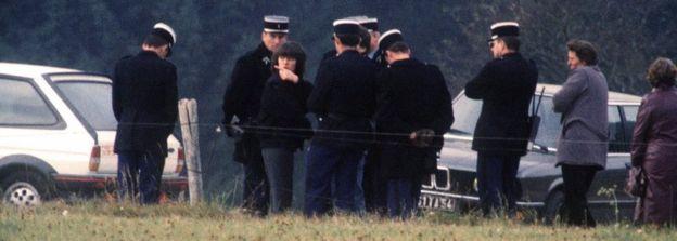 Christine Villemin na cena do crime