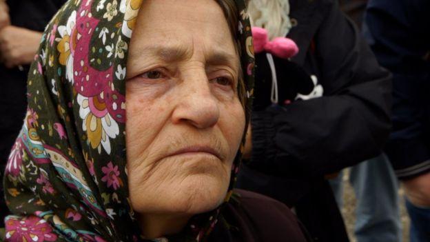 Woman in headscarf: Firdevs Uluocak