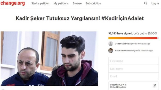 Change.org'da başlatılan imza kampanyasına saatler içinde 30 binden fazla kişi imza attı.