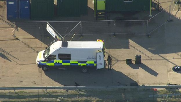 Police near London City Airport