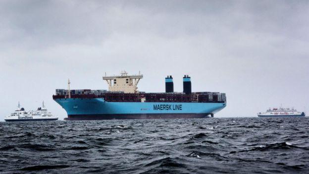 Контейнеровоз датской судоходной компании Maersk