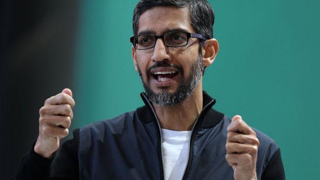 Google genel müdürü Sundar Pichai