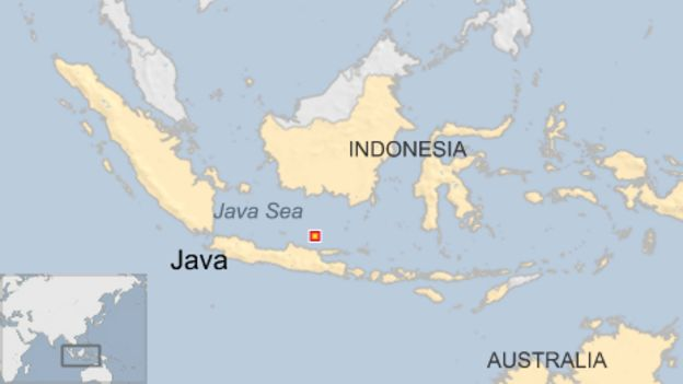 map of indonesia java marking where java sea battle took place