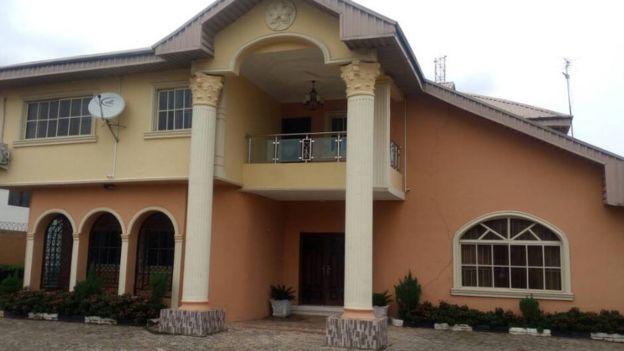 Josephine Iyamu's home in Nigeria