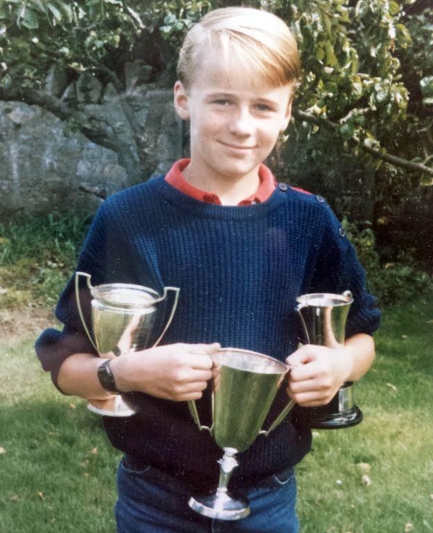 Matt, con 12 años, después de que el abuso terminó.