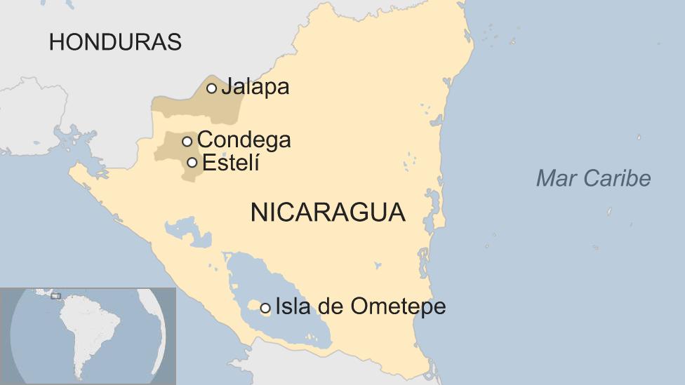 Zonas principales de cultivo de tabaco en Nicaragua.