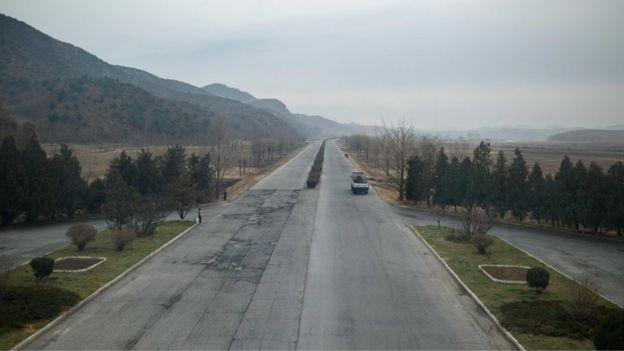 連接平壤與開城公路的其中一部份