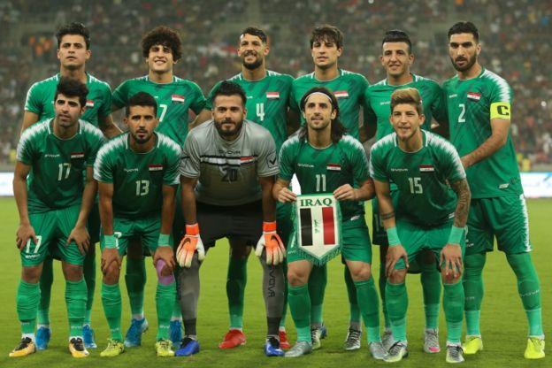 تیم ملی عراق پیش از بازی با هنگ کنگ در بصره