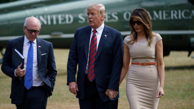 Woody Johnson, Donald Trump, Melania Trump