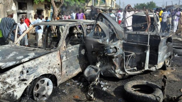 Scene of an attempt of Boko Haram in Nigeria.