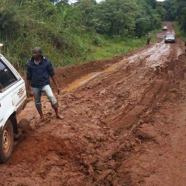 La route entre Labé-Mali