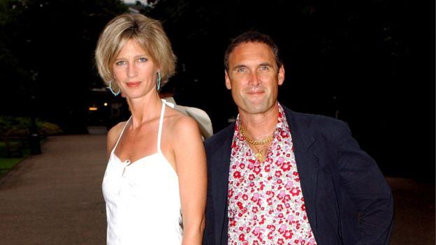 AA Gill, pictured with his partner of 23 years Nicola Formby