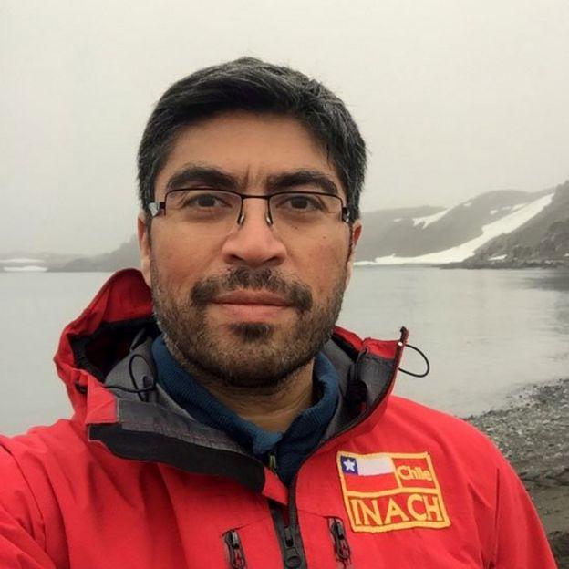 Erasmo Macaya en la Antártica