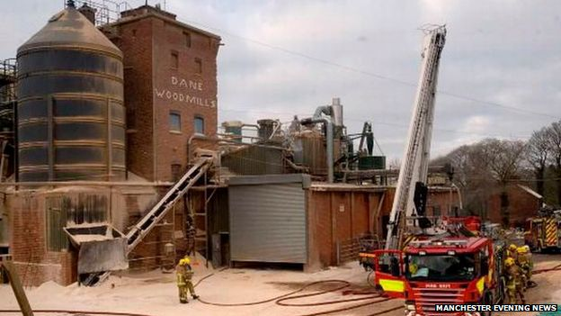 Bosley wood mill fire 2012