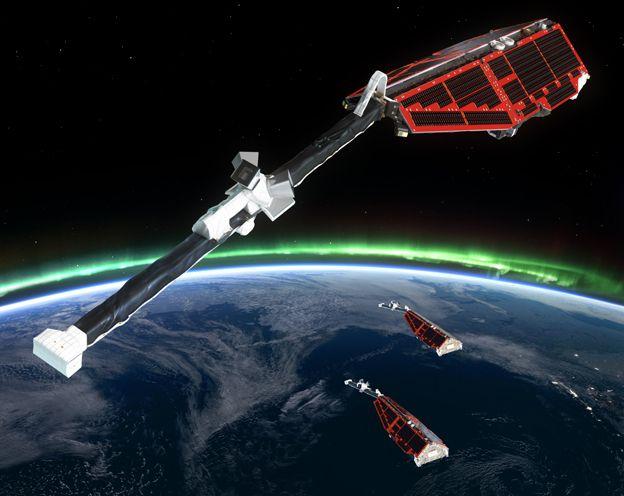 Artwork: The Swarm satellites