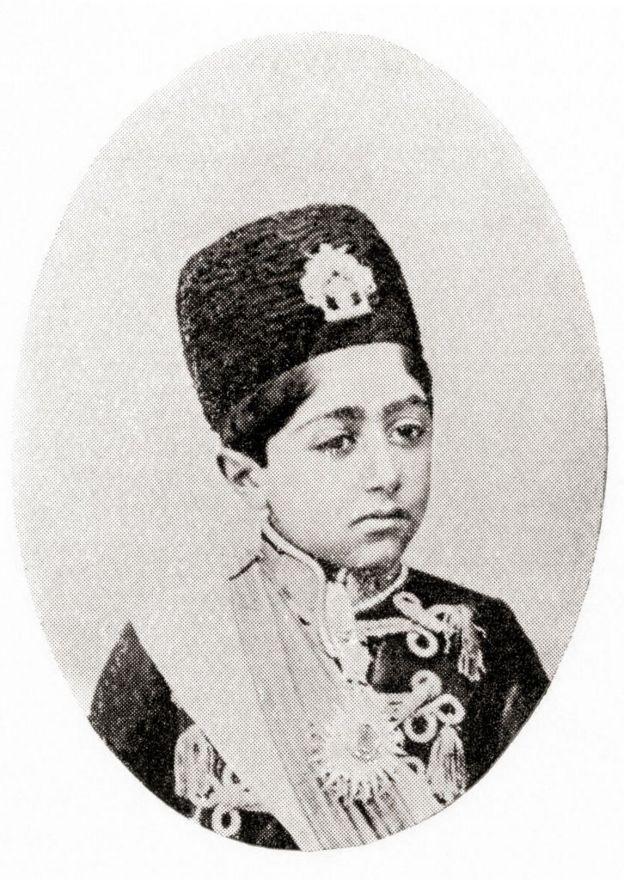 احمد شاه در کودکی