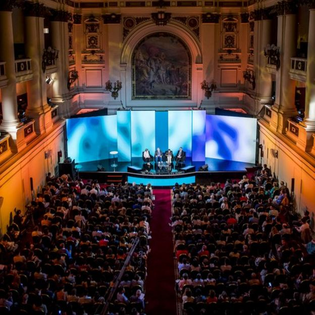 """Nobel Prize Dialogue"" em Santiago, no Chile"