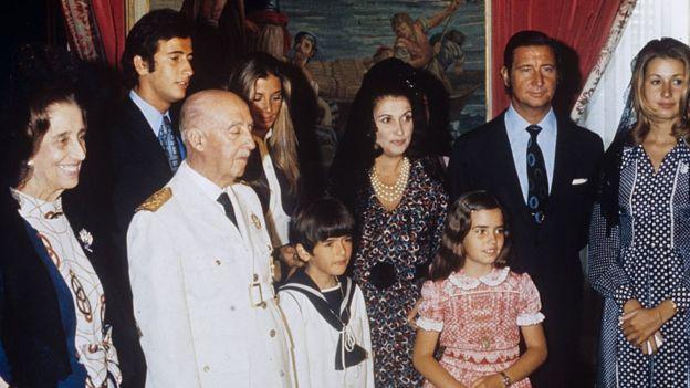 Francisco Franco rodeado de familiares