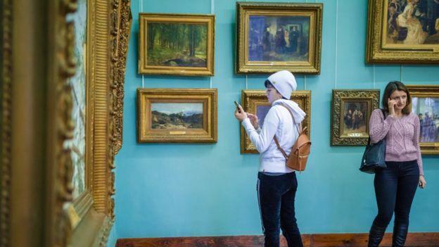 Відвідувачі в музеї