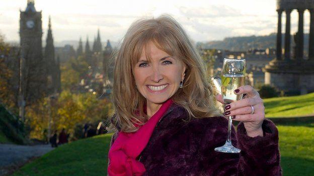Jackie Bird toasts Hogmanay