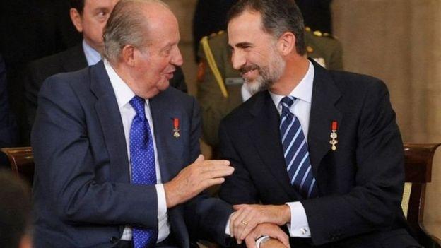 Хуан Карлос и король Фелипе