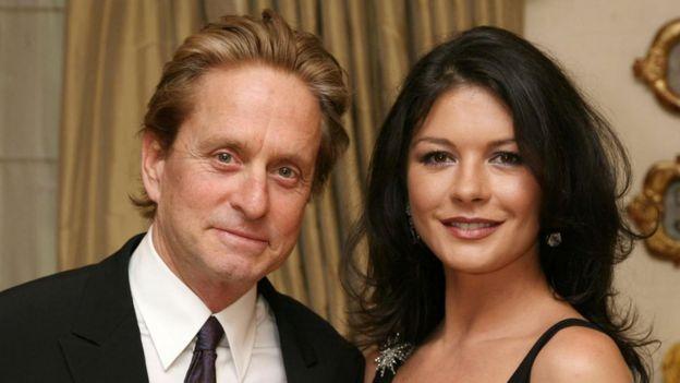 Micheal Douglas y Catherine Zeta Jones