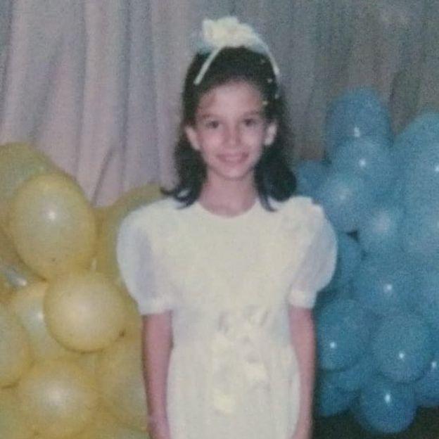 Simone durante a infância