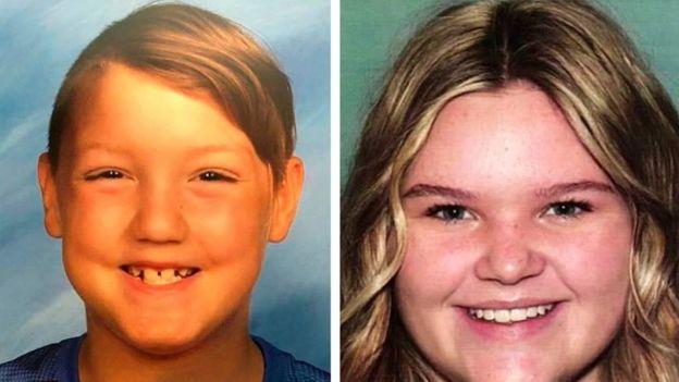 "Joshua ""J.J."" Vallow, 7, left, and Tylee Ryan, 17"