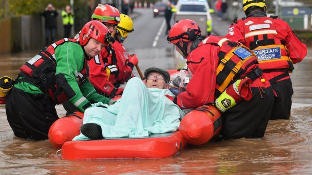 Peter Morgan was rescued by mountain rescue teams from his house in Monmouth where he has lived his whole life