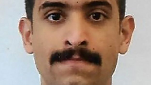 A photo of Mohammed Alshamrani provided by the FBI