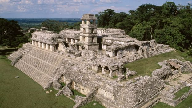 Complejo arqueológico de Palenque, Chiapas, México.