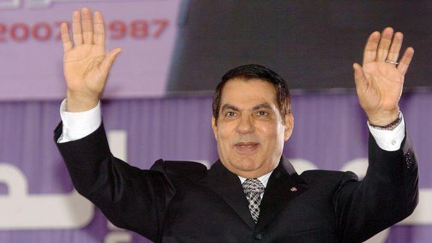 Former Tunisian president Ben Ali