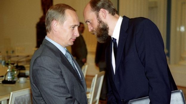 Pugachev hablando con Putin