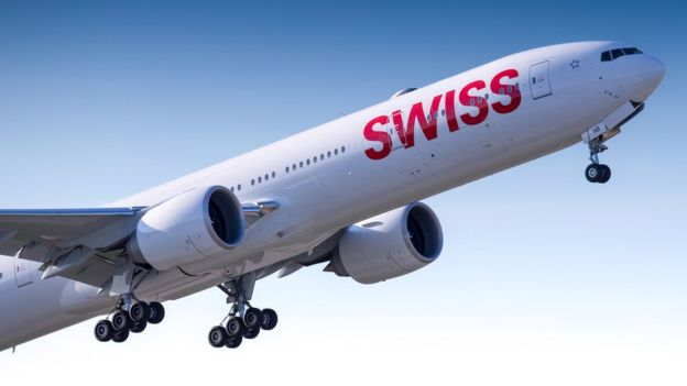 Avión de Swiss Air.
