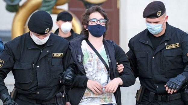 Задержание молодого человека в Минске