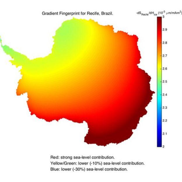 Mapeamento de impressões digitais em gradiente