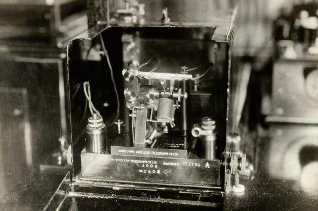 El telégrafo de Marconi que estaba a bordo del Carpathia
