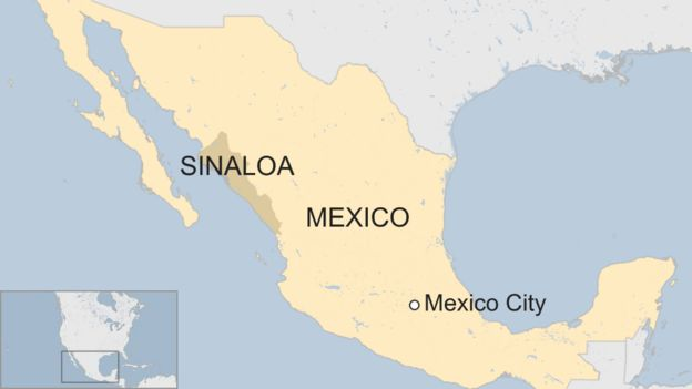 Culiacan Sinaloa Mexico Map.Mexico Police Kill 19 Gunmen In Big Sinaloa Shootout Bbc News