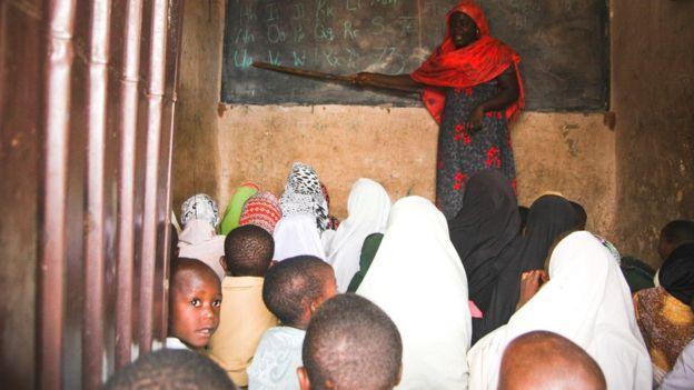 A teacher in a class in Nigeria