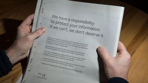 declaraciones firmadas por Zuckerberg
