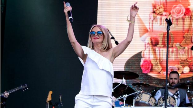 Clare Grogan on stage