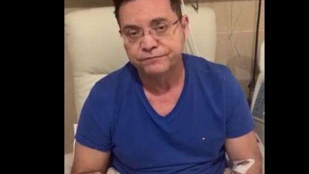 No Sírio Libanês, deputado Eduardo Botelho justificou que viajou para São Paulo em razão da falta de UTIs em Mato Grosso