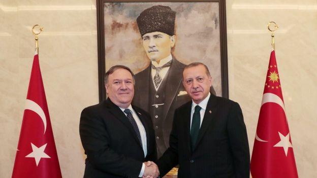 وزیر خارجه آمریکا با رجب طیب اردوغان دیدار کرد