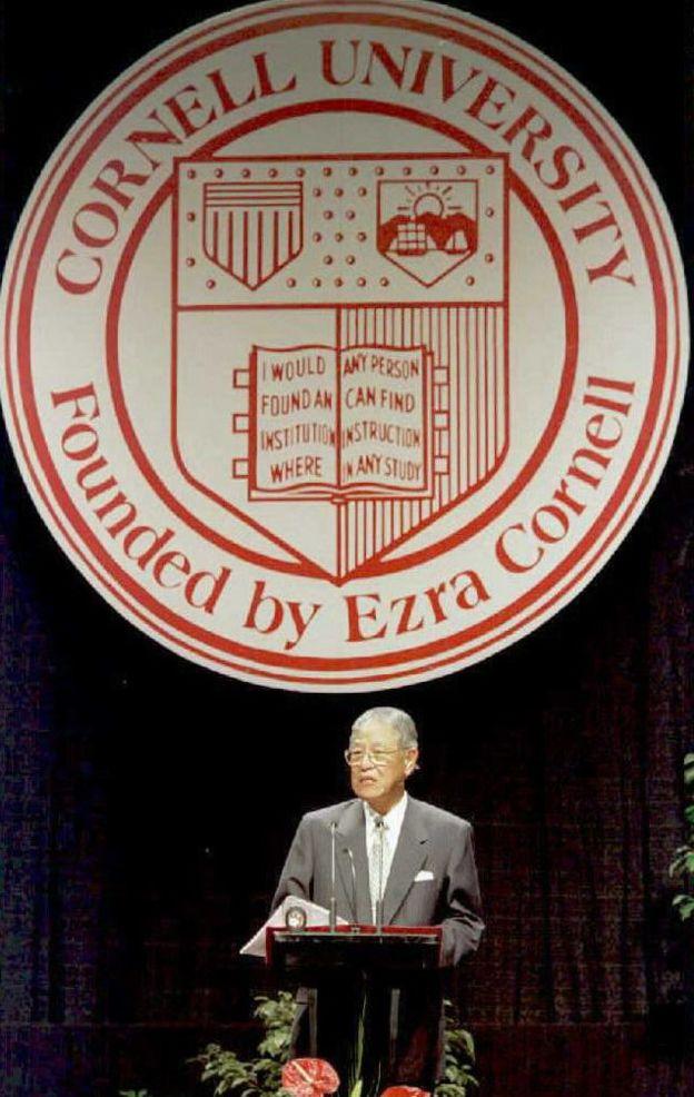台灣前總統李登輝1995年曾到美國訪問