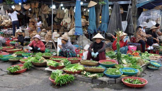 Một khu chợ ở Hội An. Hình chụp năm 2018