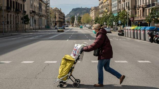 Ruas vazias de Barcelona, Espanha